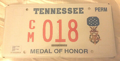2007 Tennessee Congressional Medal Of Honor Cm-018 License Plate