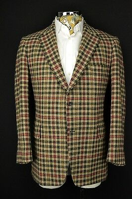"46"" Regular Donegal TWEED Blazer JACKET Multi Check Vintage"