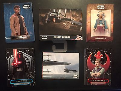 Topps Star Wars The Force Awakens Series 2 Master Set 5 Insert Sticker 163 Cards