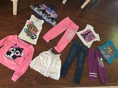 Justice Girls Clothes Lot Gymnastics Tops Jeans Size 10