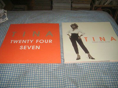 TINA TURNER-(twenty four seven)-1 POSTER FLAT-2 SIDED-12X12-RARE