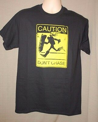 League of Legends LoL Caution Don't Chase Graphic T-Shirt ~ Black ~  New