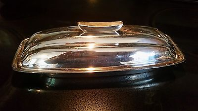 Covered Butter Dish Retro Atomic Silverplate by F.B Rogers 1883