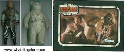 vintage Star Wars action figures Weequay & Chief Chirpa + brochure & Teebo acces