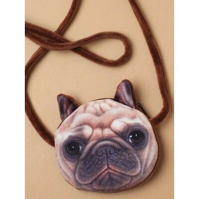 Children Girls Mini Coin Pet Purse Cute Puppy Pug Purse for party bags gifts
