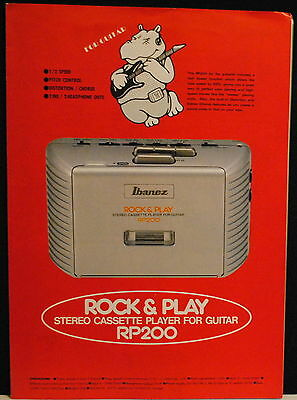 1990 Ibanez RP200 Rock + Play Stereo Cassette Player for Guitar brochure