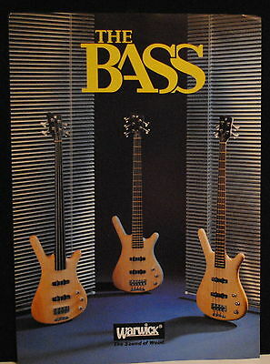 Warwick Corvette ProLine Electric Bass Guitar brochure