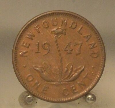 1947 C Canada, Newfoundland Bronze 1 Cent , Old 1C World Coin