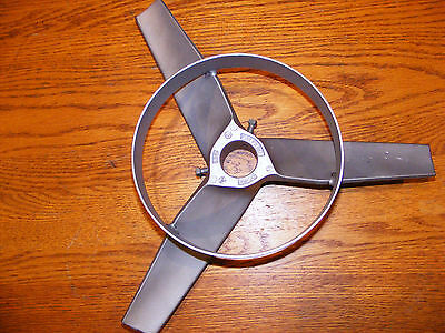 14'' Stainless Steel Mixing Propeller, 3 Blade w/ bottom ring, Stainless, NEW