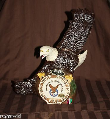 Ezra Brooks EAGLE F.O.E. decanter like JIM BEAM 1975