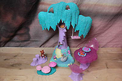 EUC BARBIE Doll Swan Lake Enchanted Forest Play Set