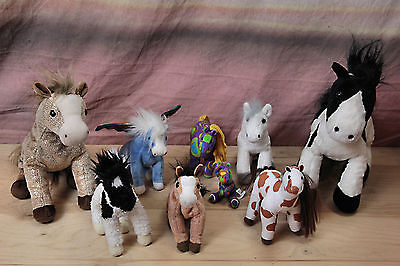 EUC Huge Lot Horse Plush Animal Collection TY BEANIE BABIES Whimzy Wild Republic