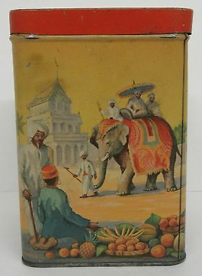 1940's Thomas J. Lipton Tea Tin - pic elephants