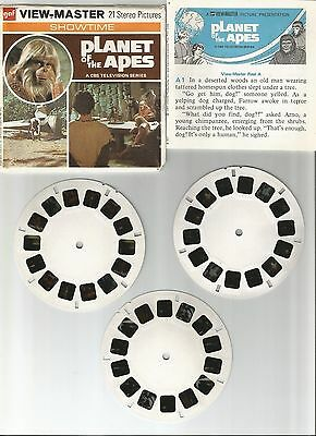 vintage GAF View Master THE PLANET OF THE APES B507 reel set TV SERIES !!