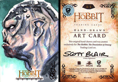BOLG The Hobbit Desolation of Smaug Scott Blair AP Sketch Card 1/1