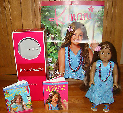 American Girl Kanani & Box Meet Dress Shoes Underwear Books Poster Necklace