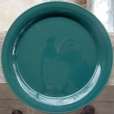 """NANCY CALHOUN """"Solid Colors"""" Evergreen..4 Dinner Plates..MINT..FREE Shipping!!!"""