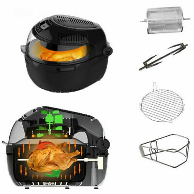 Large 10L Turbo Digital Air Fryer/IR/Food Rotation Low Fat Healthy Cooking 1300W