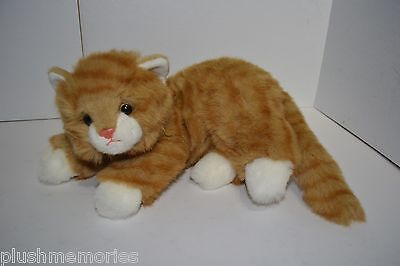Ty Al E Cat Plush Orange Tabby Kitten Vintage 1995 Kitty Striped Red Bow Ribbon
