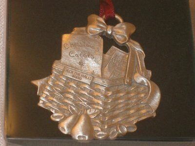 Longaberger Pewter Basket Ornament 2000 Deck The Halls Sheet Music Carols