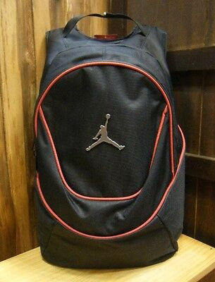 Nike Air Jordan Jumpman Backpack School Book Laptop Bag Black 9A1118-391 NEW