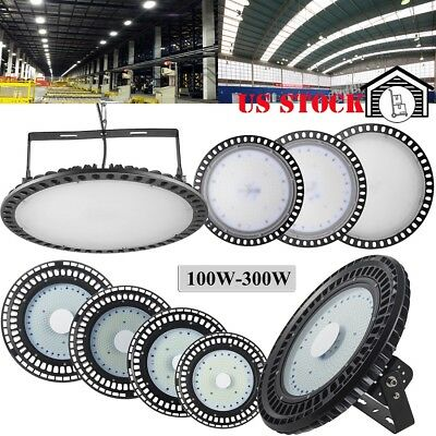250W 200W 150W 100W UFO LED High Bay Light Warehouse Factory Outdoor Fixture
