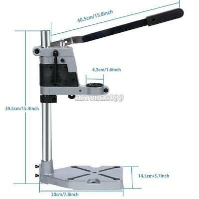 Durable Aluminum Drill Press Stand Working Bench Adjust for Drilling Collet 42mm