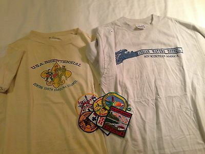 Vintage Tshirts and patches, Central SC Council BSA Camp Barstow, OLD