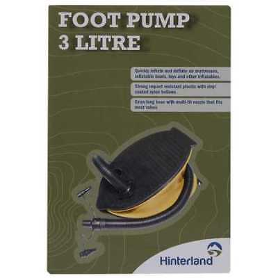NEW Hinterland Foot Pump 3 Litre