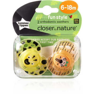 NEW Closer To Nature Fun Style 6-18m Silicone Soother - Assorted*