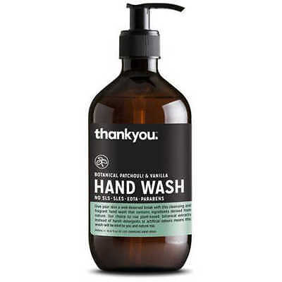 NEW Thankyou Botanical Patchouli & Vanilla Handwash 500ml