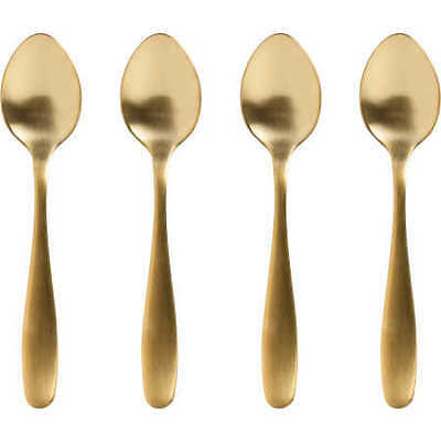 NEW Metro Style Brushed Gold Teaspoons 4 Pack