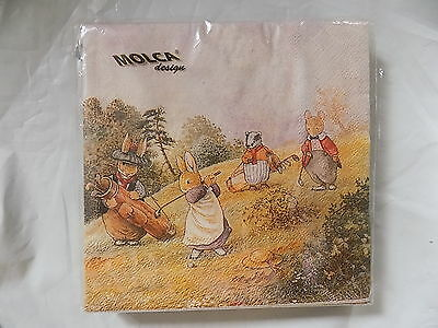 Molca Party Holiday Napkins (Paper) Bunny Rabbits Holland Villeroy & Boch NEW