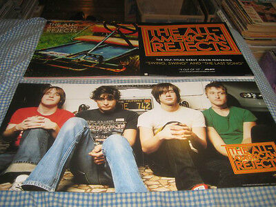 THE ALL AMERICAN REJECTS-(debut album)-1 POSTER FLAT-2 SIDED-12X24-NMINT RARE