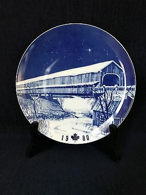 Hartland Covered Bridge Collector Plate 1980 Hutschenreuther Germany
