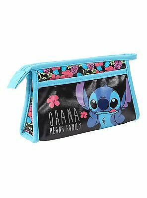 Disney Lilo & Stitch Ohana Means Family Cosmetic Makeup Bag LICENSED! NEW!