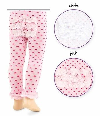 Jefferies Pima Girl Cotton Rhumba Footless Tights Fun Fashion Hosiery White Pink