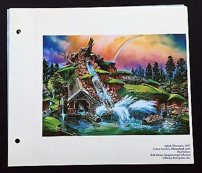 DISNEYLAND Concept Art Lithograph Splash Mountain From 50th VIP Gift!