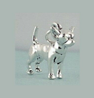 Chihuahua Dog Charm Sterling Silver Pendant 3d Animal Pet Traditional Style