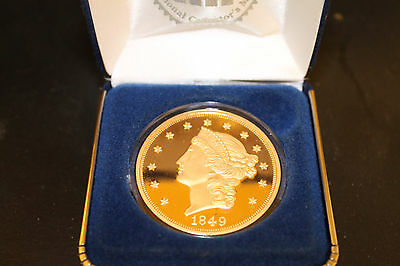 1849 $20 liberty head gold coin gold plated remake