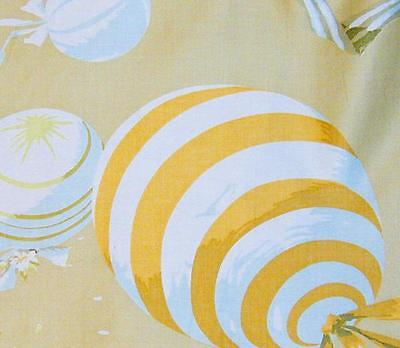 1940s/50s Vintage BarkCloth Era Balloon Print on Luxurious Gold Sateen!  BTY
