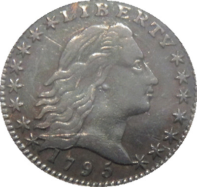 1795 Flowing Hair Half Dime Low Mintage, Draped Scarce AU ** Early Date