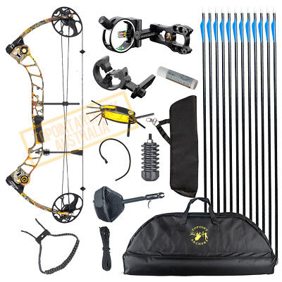 New 15-70Lb Compound Bow & Arrow Hunting Target Archery Left-Handed