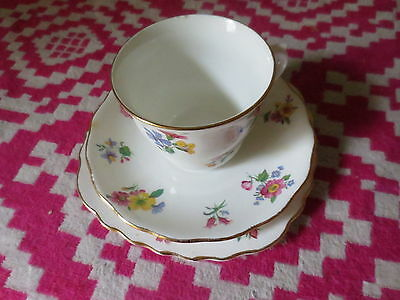 Vintage Vale Bone Chine Genuine England Made in Longton Cup Saucer Plate Floral