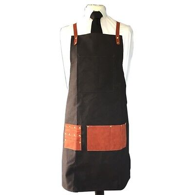 Professional Barber Hair Cutting Styling Pouch Apron Dark Charcoal