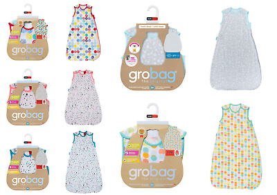 Grobag Baby Girl Boy Cotton Sleeping Bags Tog 0.2 Side Zip Room Temp 27 deg C +