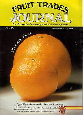 1985 20  DEC 57360 Fruit Trades Journal Magazine  GURGI ABROAD IN THE PROVINCES