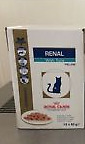 Royal Canine Feline Vet Diet Renal 3x unopened boxes of tuna 36x85g pouches
