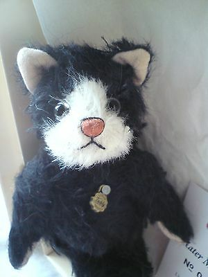 Hermann Teddy Miniature Limited Edition,  Tom Cat, Black and White