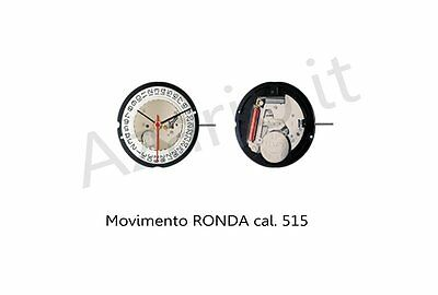 Movimento al quarzo Ronda 515 movement quartz for watch orologi Swiss